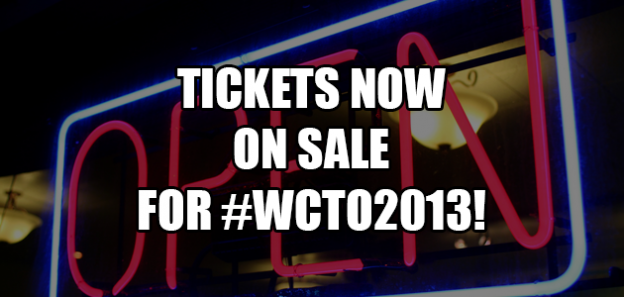 WCTO2013 Tickets Now On Sale