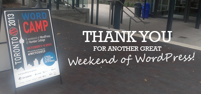 Thank You for WCTO2013