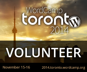 Volunteering at WordCamp Toronto 2014